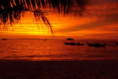 Sunrise on Lipe island,Sa Tun,Thailand Royalty Free Stock Photo