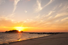 Sunrise at Lipe island, south of Thailand Royalty Free Stock Photo