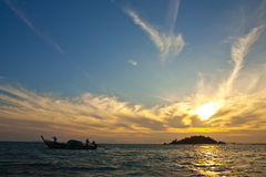 Sunrise at Lipe island, south of Thailand Royalty Free Stock Image
