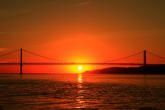 Sunrise in Lisbon Royalty Free Stock Photography