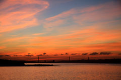 Sunrise in Lisbon Royalty Free Stock Images