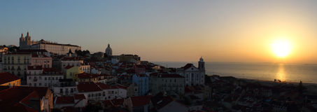 Sunrise in Lisbon Royalty Free Stock Photos