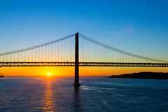 Sunrise at Lisbon Royalty Free Stock Photography