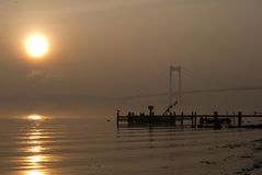 Sunrise at Little Belt Royalty Free Stock Photography
