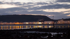 Sunrise at Llandudno pier Royalty Free Stock Photos