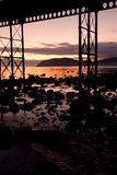 Sunrise at Llandudno pier Stock Images