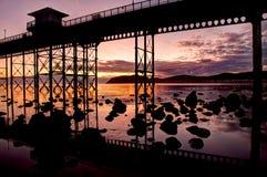 Sunrise at Llandudno pier Royalty Free Stock Photography