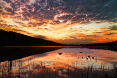Sunrise at Locust Lake State Park Stock Photo