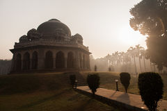 Sunrise at Lodi Garden, Delhi. Sunrise at Mohammed Shah's Tomb  Lodi Garden in New Delhi, India Royalty Free Stock Image