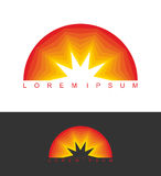 Sunrise logo. Dawn emblem. Business template logo for company.  Stock Image