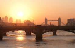 Sunrise in London Stock Photos