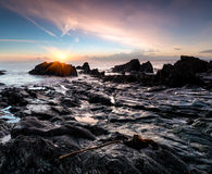 Sunrise at Looe Beach Royalty Free Stock Photography