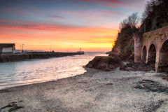 Sunrise at Looe in Cornwall Royalty Free Stock Image