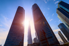 Sunrise in  Lujiazui, Pudong, Shanghai, China. Royalty Free Stock Photography