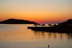 Sunrise at luxury resort Royalty Free Stock Photography