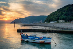 Sunrise at Lynmouth in Devon Stock Photos