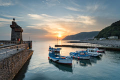 Sunrise at Lynmouth in Devon Royalty Free Stock Images