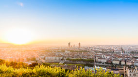 Sunrise from Lyon, France stock image