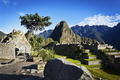 Sunrise at Machu Picchu - Peru Royalty Free Stock Image
