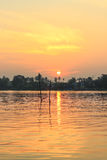 Sunrise at Mae Klong River,Amphawa district,Samut Songkhram Province,Thailand. Stock Image