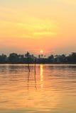 Sunrise at Mae Klong River,Amphawa district,Samut Songkhram Province,Thailand. Stock Image