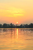 Sunrise at Mae Klong River,Amphawa district,Samut Songkhram Province,Thailand. Amphawa Floating Market is the most popular place in Samut Songkhram Province Royalty Free Stock Image