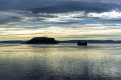 Sunrise in Mageroya island, Norway. Royalty Free Stock Photography