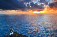 Sunrise at Makapuu Point, Oahu Hawaii Royalty Free Stock Photo