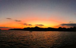 Sunrise Mallorca. Sun rising in Alcudia, Mallorca Stock Images