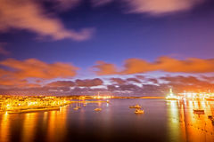Sunrise in Malta. Early morning at South West Malta. Birzebbuga town Stock Photos