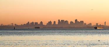 Sunrise on Manhattan Royalty Free Stock Photography