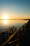 Sunrise on the Mar Menor Royalty Free Stock Photos