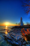 Sunrise at Marblehead Lighthouse Stock Images