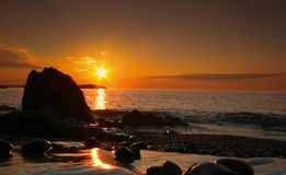 Sunrise on Marblehead Neck, MA royalty free stock images