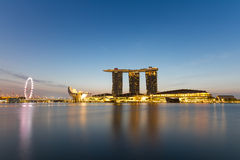 Sunrise at Marina bay sands, Singapore Stock Images