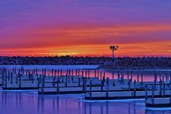 Sunrise at the Marina Royalty Free Stock Photo