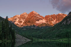 Sunrise at the Maroon Bells Royalty Free Stock Photo