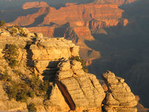 Sunrise at Mather Point. I was able to obtain this photo on trip in Autumn of 2005 Royalty Free Stock Photo
