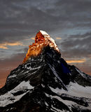 Sunrise on the Matterhorn Stock Photos