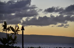 Sunrise in maui Stock Photography