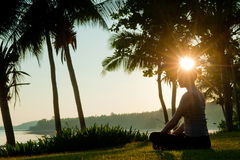 Sunrise Meditation Royalty Free Stock Image