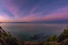 Sunrise at the Mediterannean Sea near Split, Croatia Stock Image
