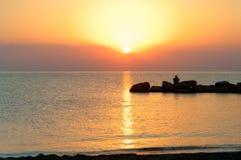 Sunrise on the Mediterranean coast Royalty Free Stock Photography