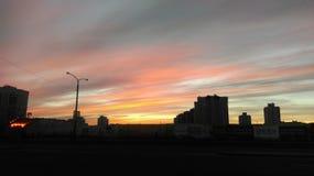 Sunrise. Meet sunrise in Minsk. Belarus stock photos