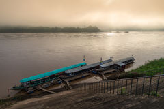 Sunrise on the Mekong river Royalty Free Stock Photo