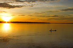 The sunrise on Mekong River Royalty Free Stock Images