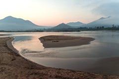 Sunrise on the Mekong river Stock Photo