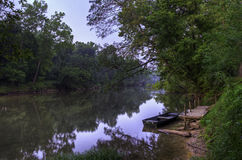 Sunrise on Meramec River Stock Images