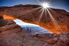 Sunrise at Mesa Arch Stock Photography