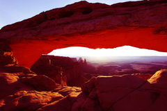Sunrise at Mesa Arch. In Canyonlands National Park near Moab, Utah, USA Royalty Free Stock Images